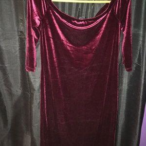 Burgendy velvet dress